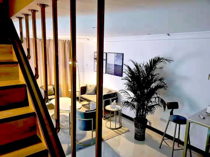 【吾居吾宿】兰州西站和西站十字双地铁 甘肃省博物馆 兰州中心 中山桥北欧轻奢loft公寓