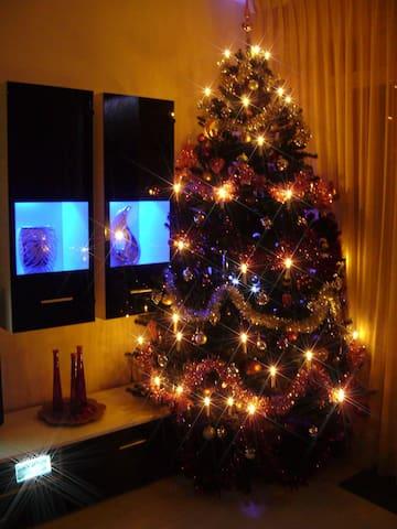 christmas three in the livingroom