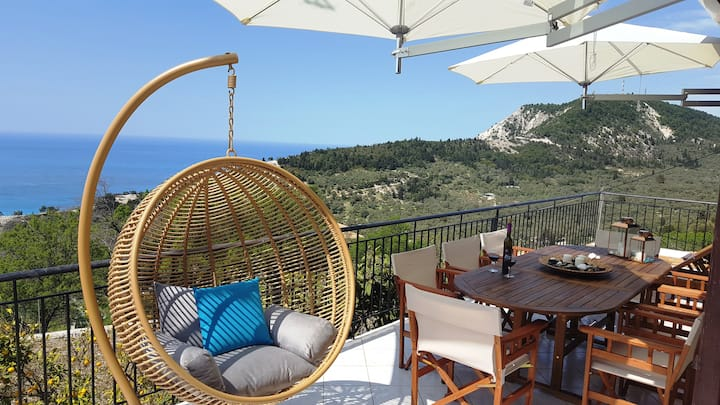 Horizon View Apartment 10km from Porto Katsiki