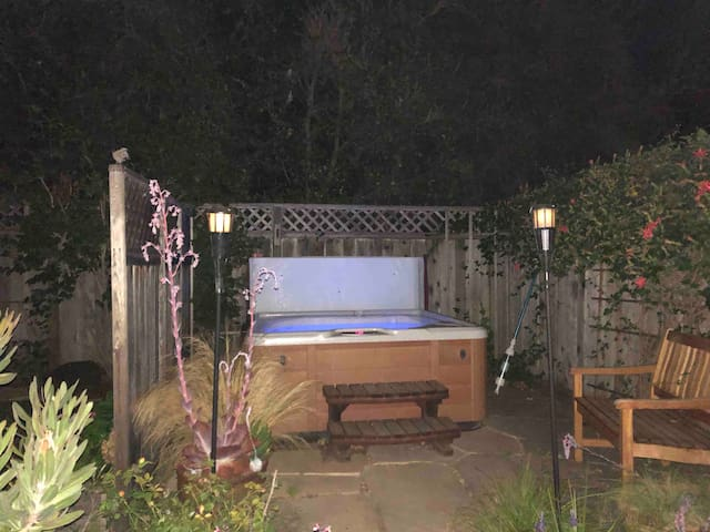 A private hot tub for your enjoyment