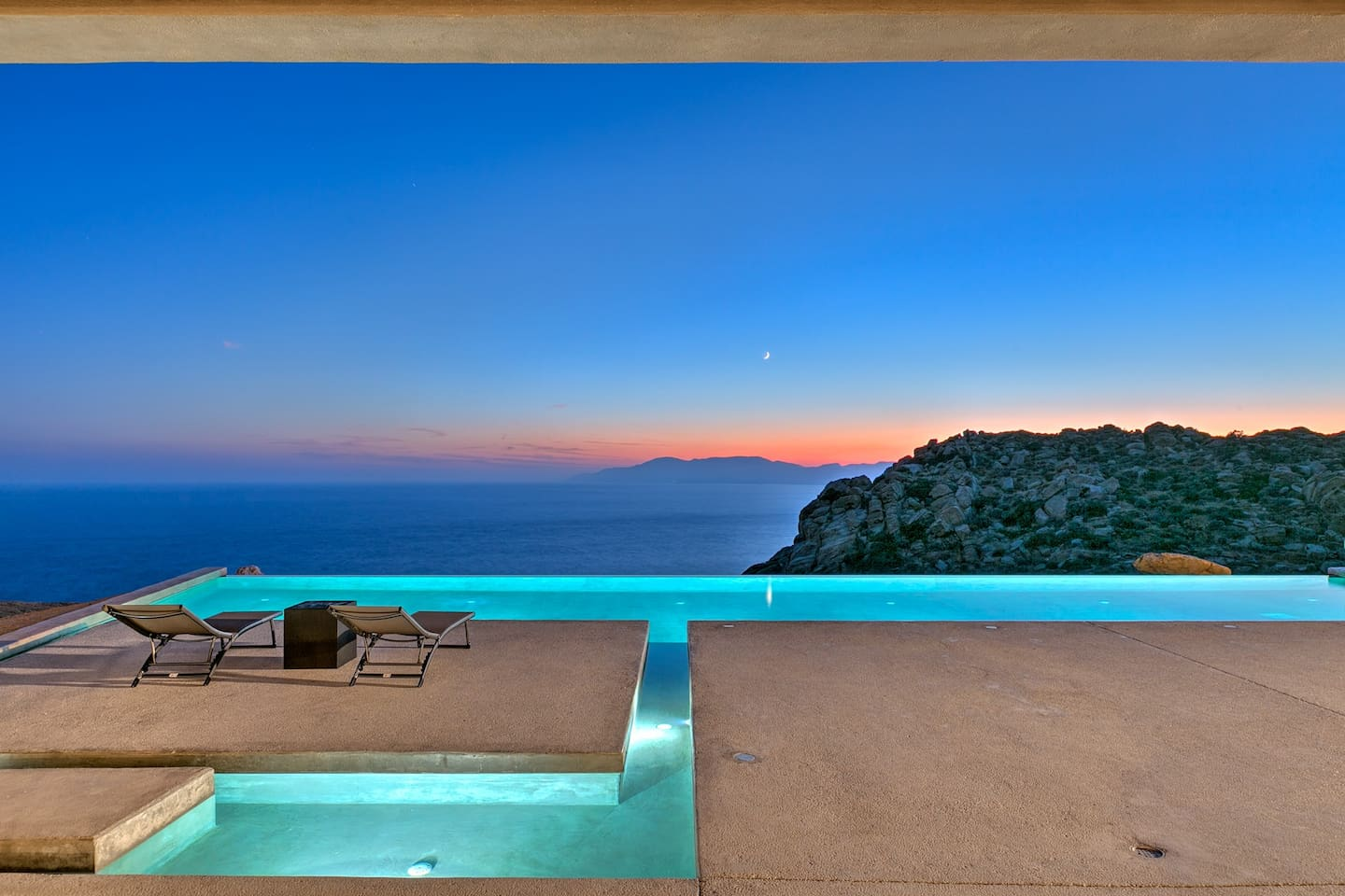 Romantic sunset every day at the comfort of your villa