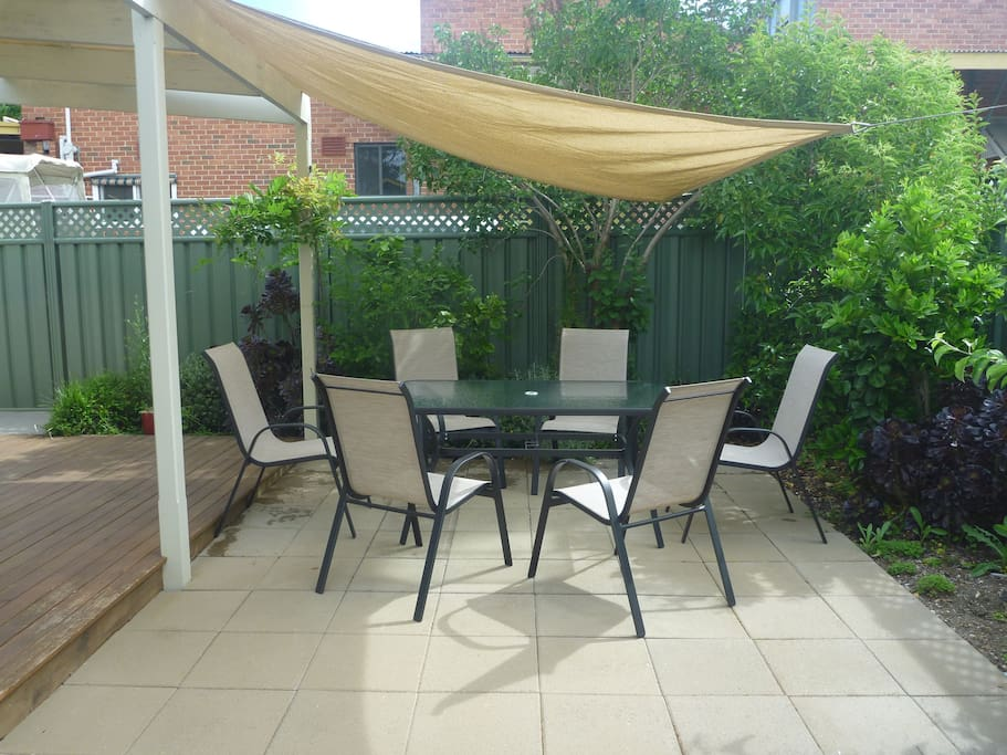 Shaded Outdoor Area.