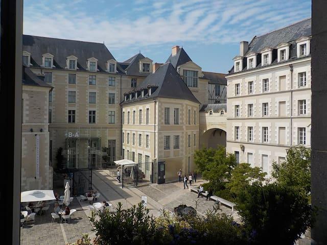 Studette+jardin en monument historique pleincentre