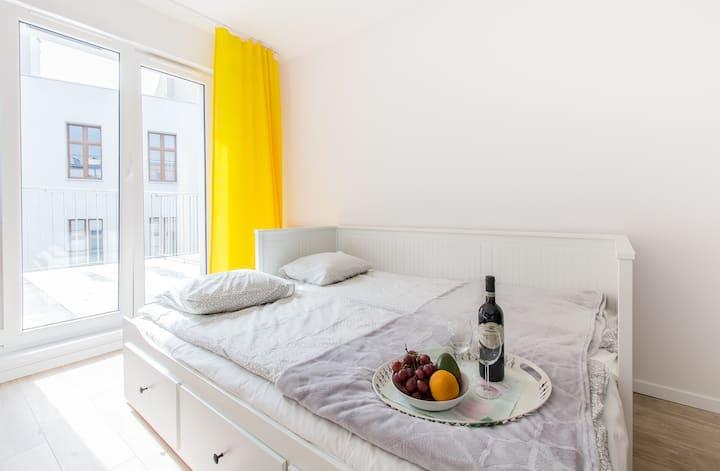 Przytulny Yellow Apartment -15 min od Rynku!