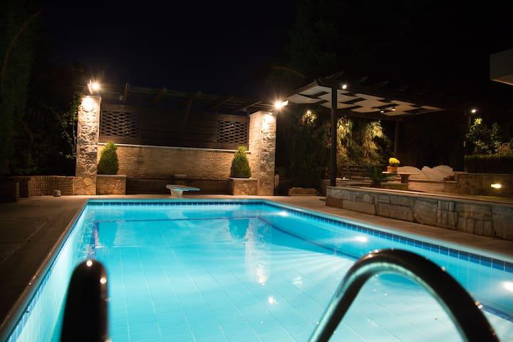 Beautiful Poolside Apartment in Anavyssos