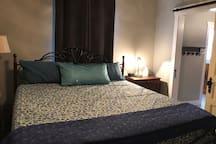 Master bedroom, king bed, memory foam mattress