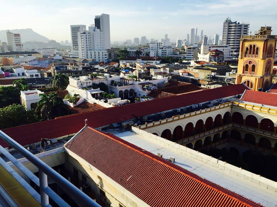 panoramic window view north (morning)