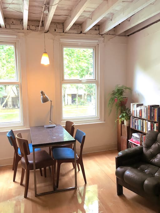 Sitting room over looking a park