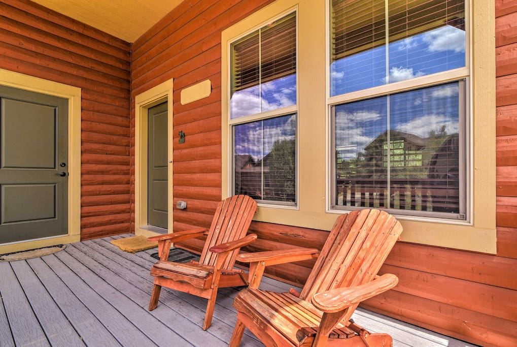 Relax on the front porch as you sip on your favorite beverage.