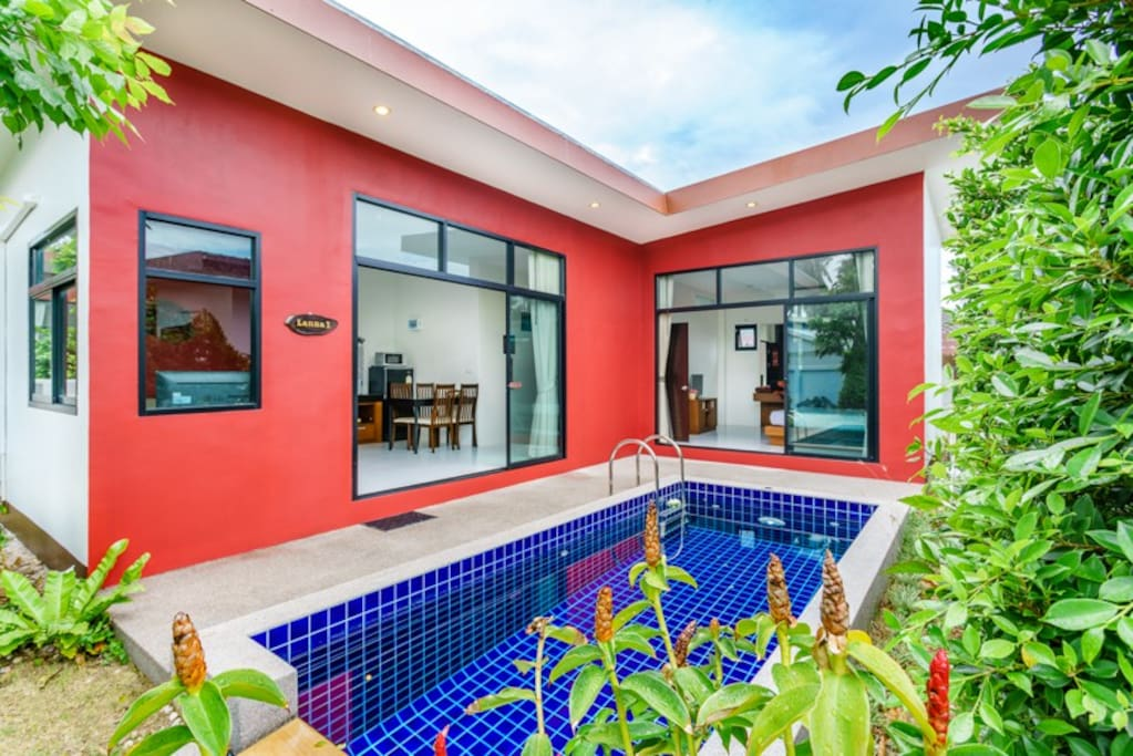 2 Bedroom Lanna Style Villa with private pool.