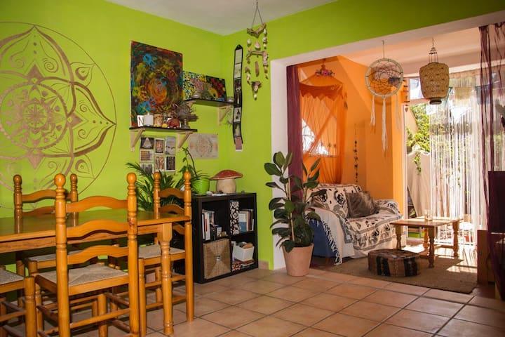 Shanti home near Cala Leña beach
