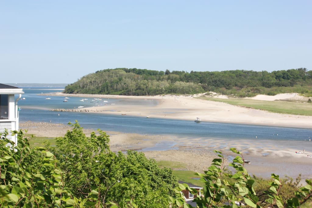 Walk to Little Neck Beach, which faces the back side of Crane Beach.