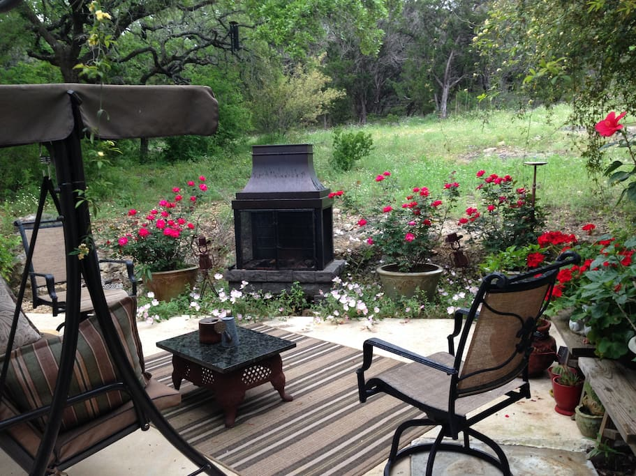 Texas Rose Suite private patio