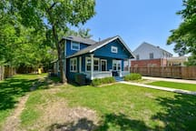 Lovely, mature all around the perimeter of the property create a cozy green space.