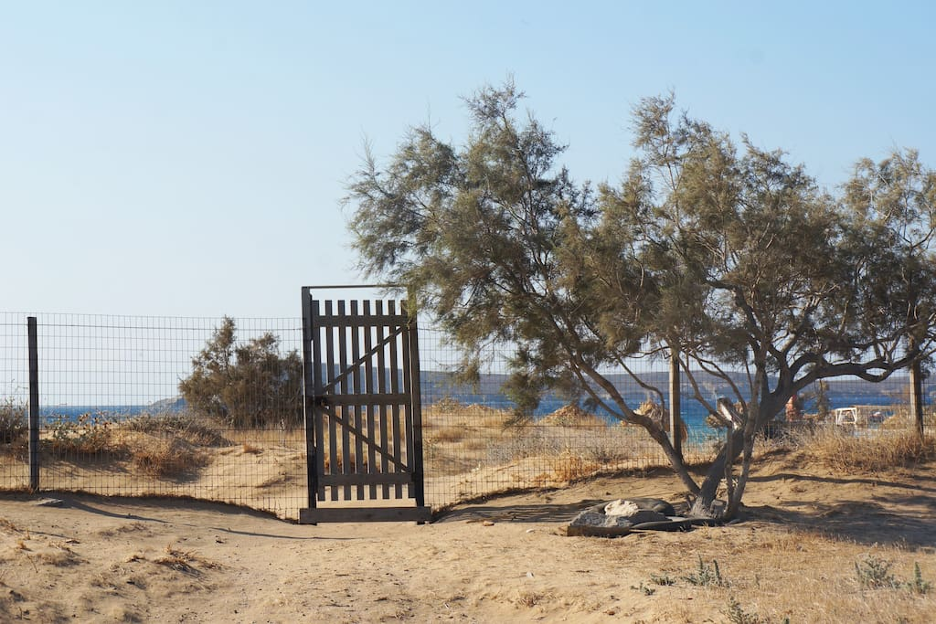 The gateway to the beach