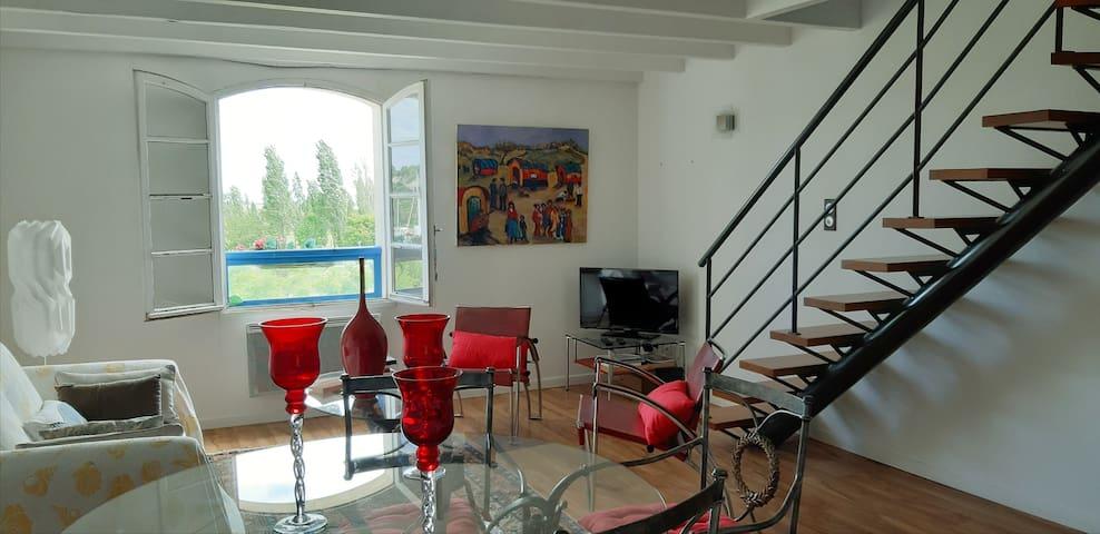 Appartement au port de Mortagne sur Gironde