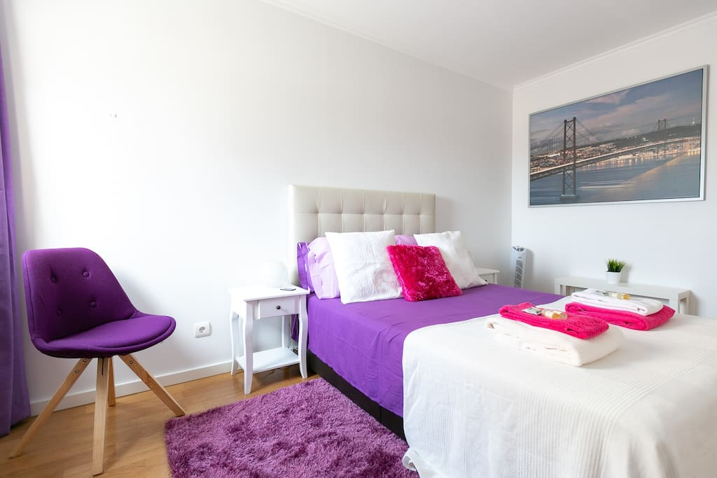 Double Bed Room, with heaters and tower fans for comfortable air conditioning!