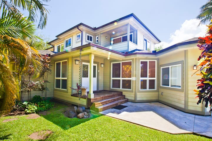 Spacious Heart of Hanalei Home, walk to town and to the bay!  TVNC #5128