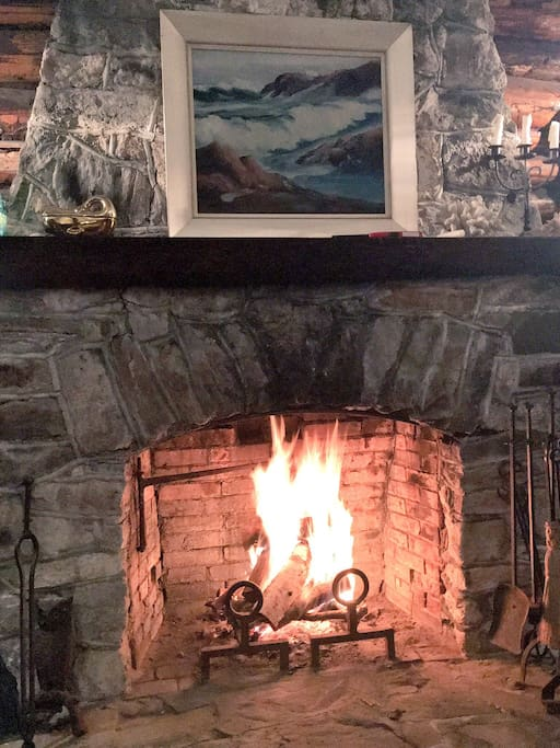 Cozy up to the fire with a book!