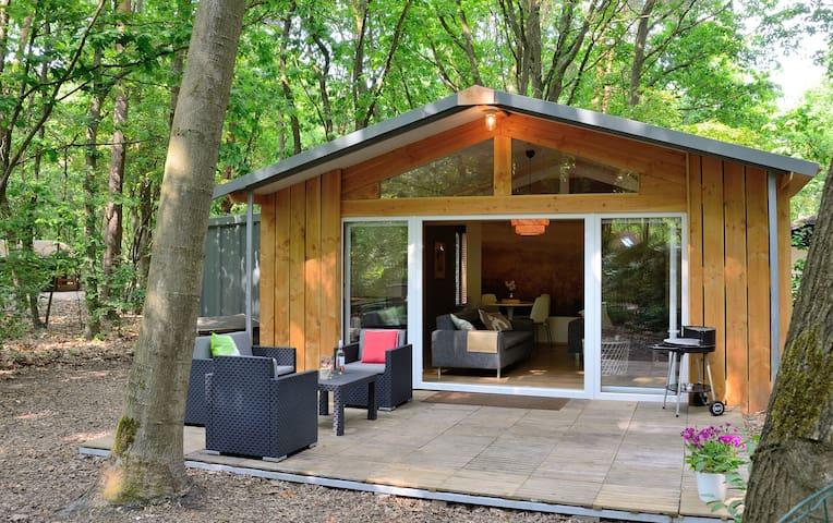 Gloednieuwe bungalow met omheinde tuin in Nunspeet