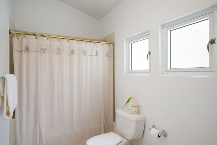 Full size bathroom with shower