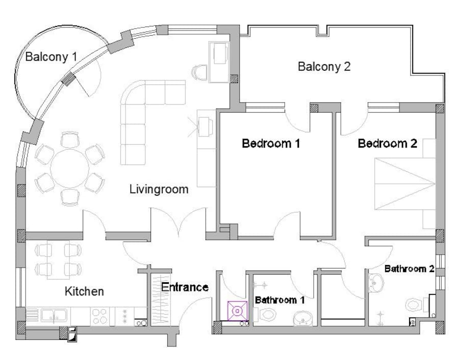 Plan of the apartment