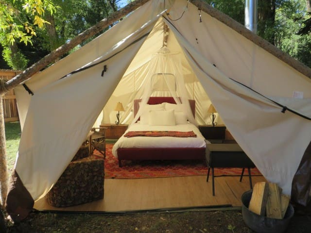 Glamping On The River Luxurious Wall Tent Dubois Tents