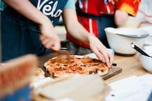 Organic sourdough pizzas
