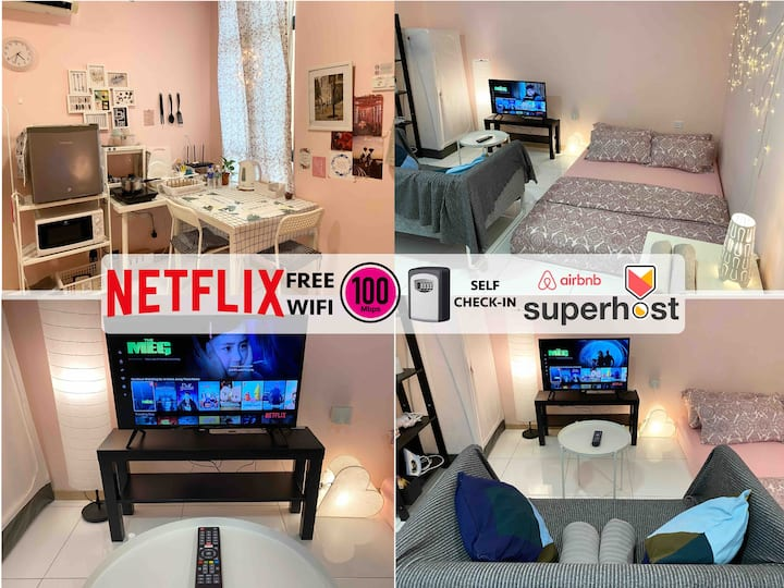A Home Away From Home*NETFLIX*100Mbps*SELFCHECK-IN