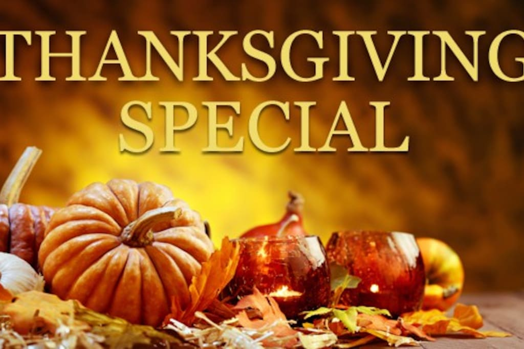 This special Thanksgiving deal is for a 10-day chunk at Thanksgiving time of this year. It runs from November 20th through November 29th. Maximum 2 adults (kids ok), no smoking and small non-shedding dogs only for this period. This is a package deal only, no exceptions, I reserve the right to refuse you as a guest pending a phone discussion before booking. The price for this ten day stretch is $449 plus Airbnb fees. Must check in my noon on the November 20th at the latest. If you are interested, please inquire to me about the date of November 19th, 2017 and indicate to me in your message that you'd like to discuss renting for the Thanksgiving Special .