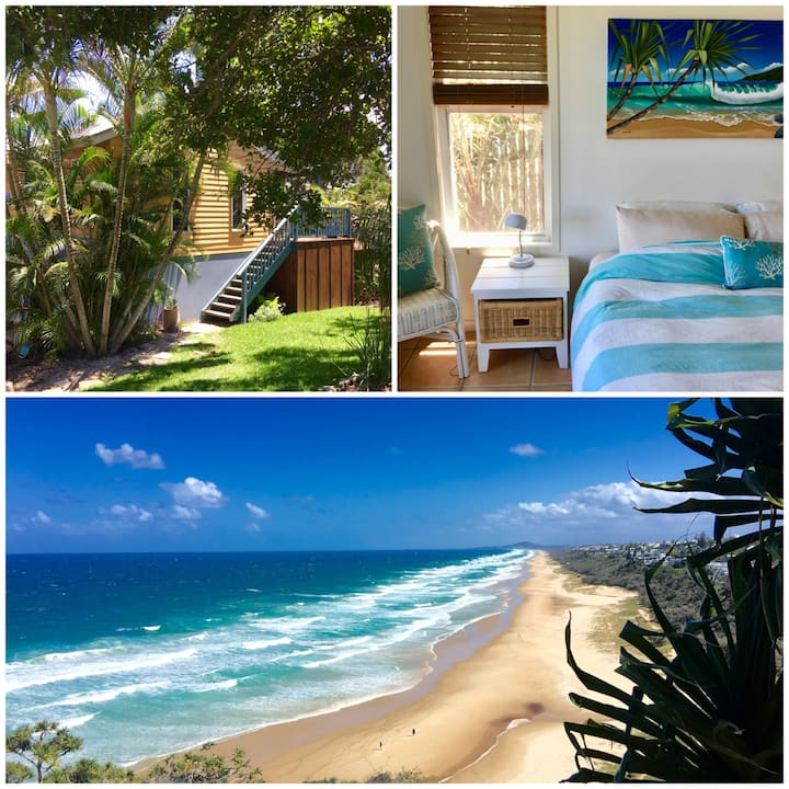 Private Beach Studio, walk to beach, dogs welcome