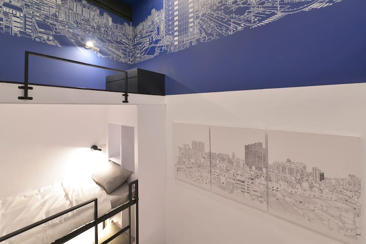 In Style House星空背包房Dormbed1/sharedshower捷運信義國小站1分鐘 - Xinxing District - House