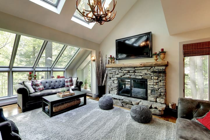 The Antler House an upscale private home located minutes from Amherst Lake