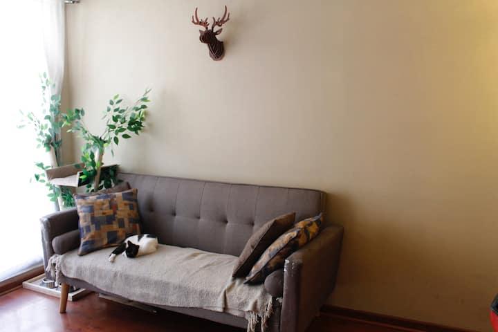 Habitación en excelente sector de Santiago Centro