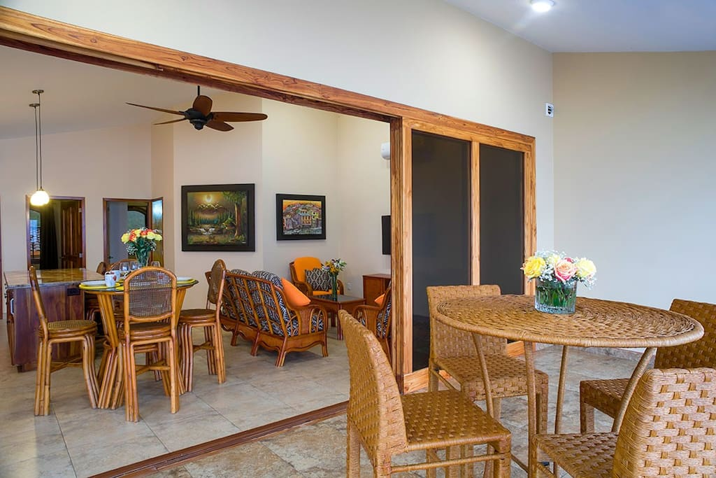 This upstairs, 2-bedroom unit exudes warmth and comfort.