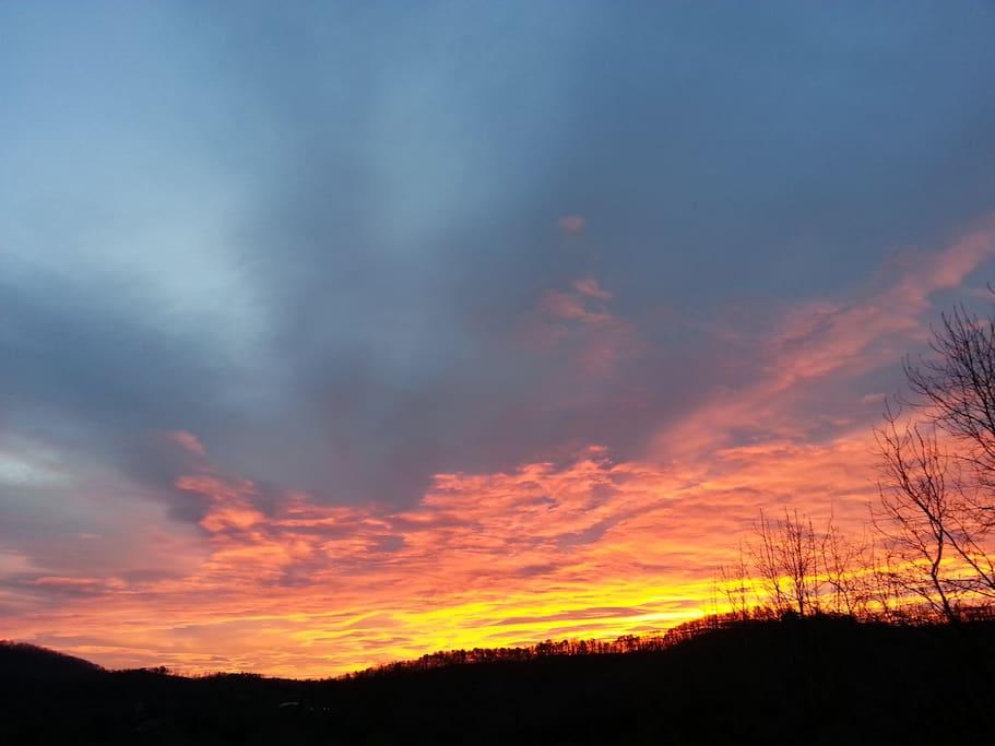 One of many gorgeous sunrises from main level back deck