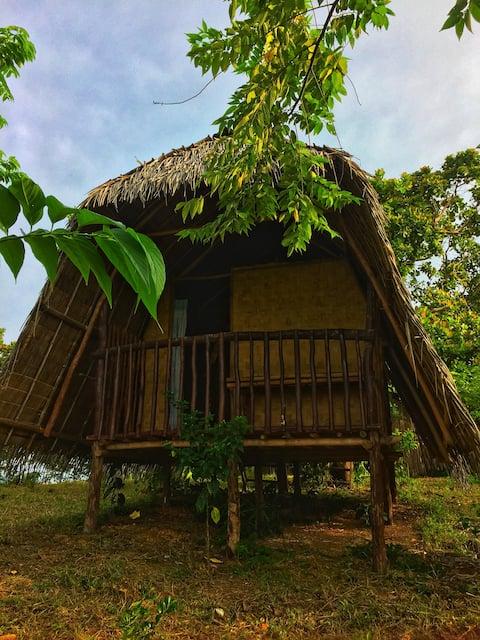 Vue grand hilltop,bay view native huts in el nido