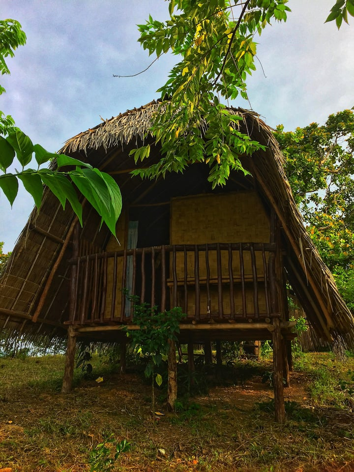 Vue grand hilltop,bay view native huts in el nido