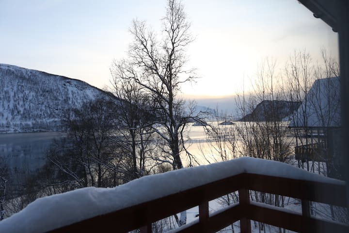 Nice apartment near fjord,mountains and city
