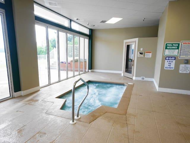Indoor hot tub/sauna