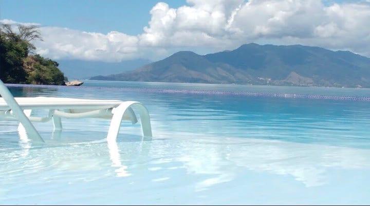 Apartamento Pé na Areia com vista para o mar Wi-Fi