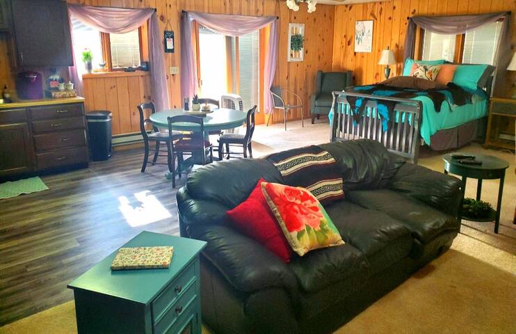 It's definitely an open concept........but it's comfy and roomy!