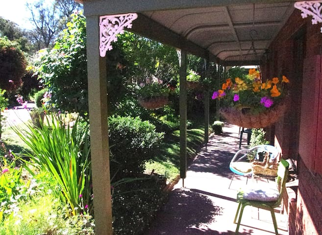 This is the front verandah. It is a delightful spot to sit, very private and well-shaded.
