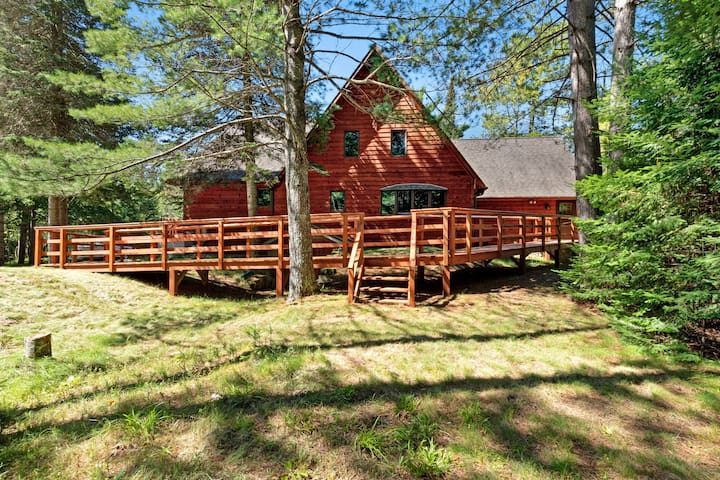 Charming, lakefront home w/ a dock, kayaks, gas grill, furnished deck, & firepit