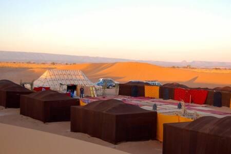 Bivouac in the desert.