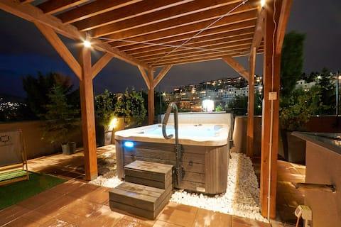 奧運84室外按摩浴缸三臥室公寓