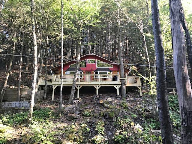 Catskills log cabin in Phoenicia, NY