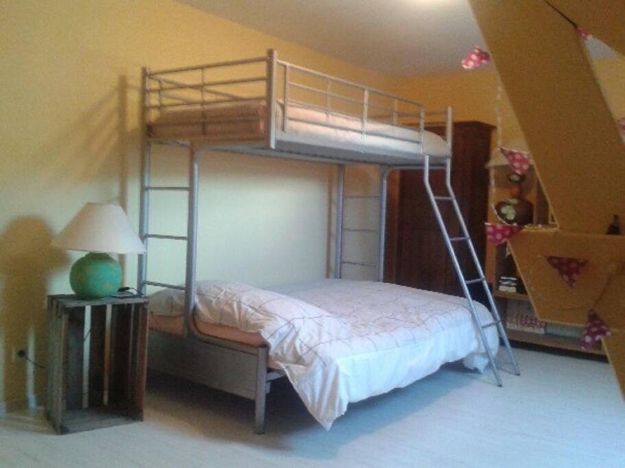 chambre lit double +lit simple