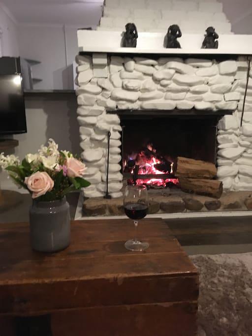 Lounge open fire