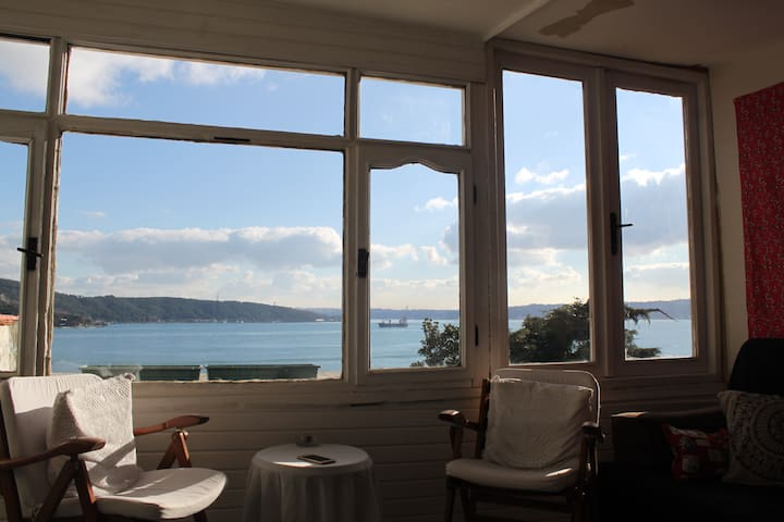 Terrace with amazing bosphorus view - Sarıyer - Apartment